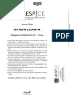 Prova Discursiva - Delegado de Polícia Ceará 2014