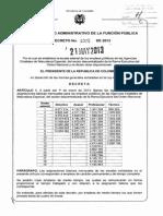 Decreto 1025 Del 21 de Mayo de 2013