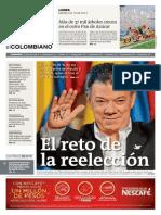2014.06.16 El Colombiano Santos Reelecto