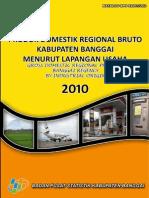 Pdrb Kabupaten Banggai 2010
