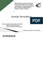 Geração Termelétrica - Trabalho de Geração