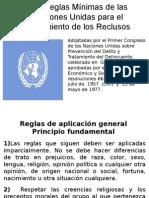 Las Reglas Mínimas de Las Naciones Unidas Para El Tratamiento de Los Reclusos [Exposision]