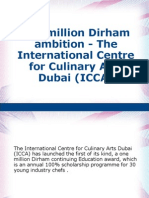 The million Dirham ambition - The International Centre for Culinary Arts Dubai (ICCA)