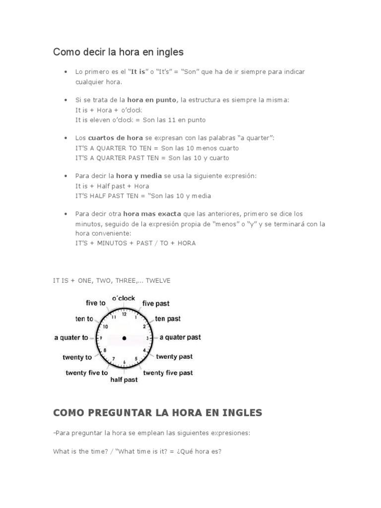 Vocabulario Basico Ingles