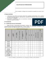 1-Qualificação de Fornecedores