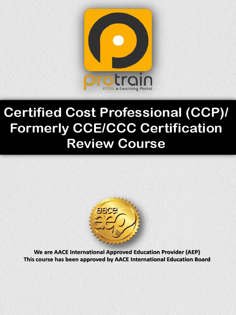 Cce Ccc Brochure Rev 0 Professional Certification Lecture
