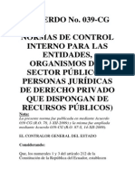Normas Control Interno Contraloria General Del Estado