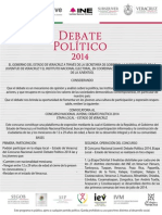 Convocatoria Debate Politico 2014