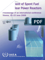 International Atomic Energy Agency. OECD Nuclear Energy Agency Management of Spent Fuel From Nuclear Power Reactors - Proceedings of an International Conference on Spent Fuel From Nuclear Power Reactors 2007 (1)