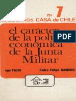 Política Económica de La Junta Militar