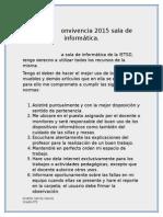 Pacto de Convivencia 2015 Sala de Informática