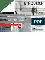 Study Programmes ETH Zurich