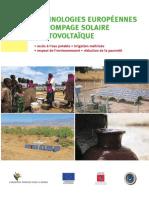 Fondem Ies Technologies Europeennes Pompage Solaire Photovoltaique