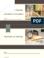Teaching vs Testing