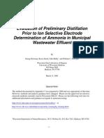 Ammonia Distillation Study
