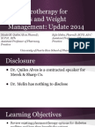 WHS PR Symposium - Pharmacotherapy for Diabetes and Weight Management