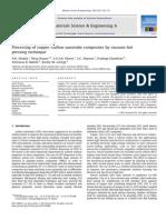 Processing of Copper–Carbon Nanotube Composites by Vacuum Hot