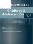 WHS PR Symposium - Management of Childhood and Adolescent Obesity