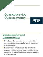Quasi Concavity Quasi Convexity