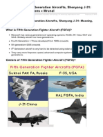 Mrunal.org-Diplomacy Fifth Generation Aircrafts Shenyang J31 Meaning Implications Mrunal