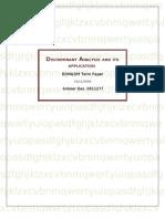 Discriminant Analysis Term Paper