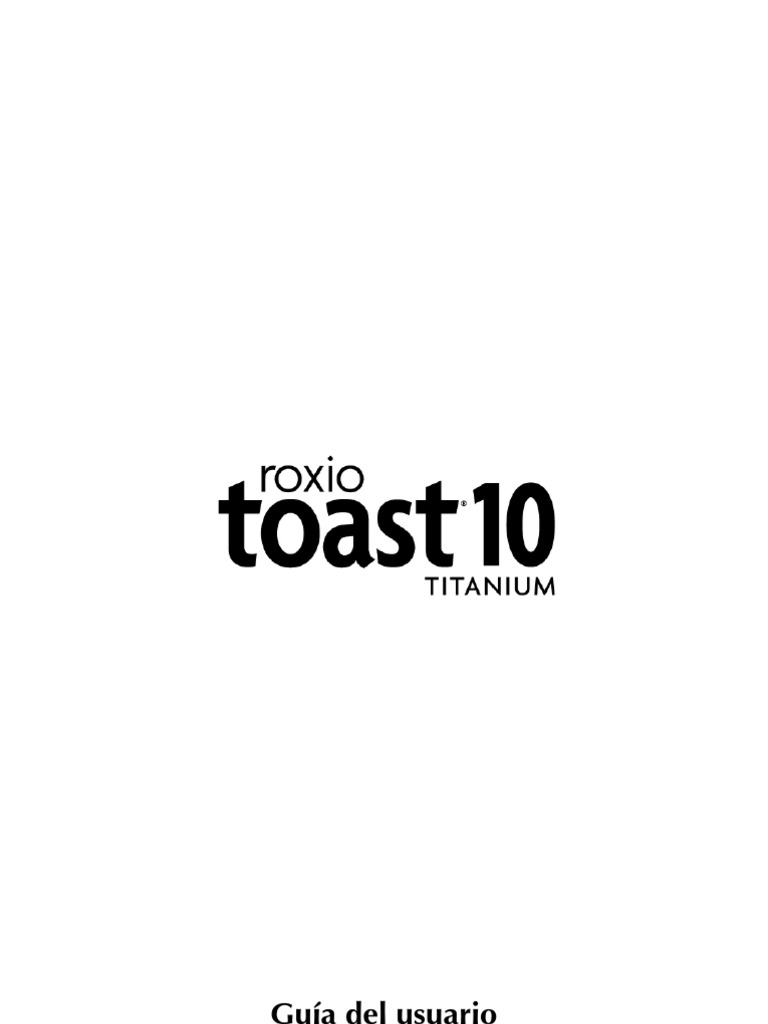 Toast 10 Titanium Guía del usuario