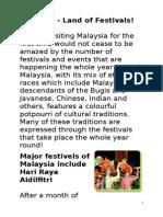 Malaysia Festivals
