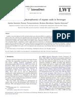 Capillary Zone Electrophoresis of Organic Acids in Beverages