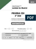 CDI Matematicas 2014
