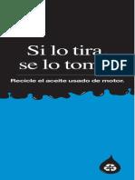 Afiche de Rereciclaje de Aceite