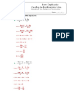 3.1 - Equações Com Denominadores - Ficha de Trabalho (1) - Soluções