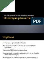 Orientação Para o Cliente - ISO 9001 2008 - Seção Consumidores