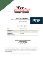 lancaster stock car rule book