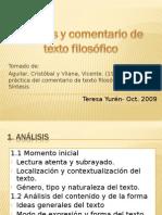 Análisis y Comentario de Textos Filosóficos (1)