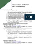 UNTREF - Programa estudios posdoctorales