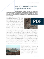The Influence of Urbanization on the Ecology of Inland Areas