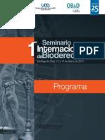 Programa Seminario Internacional de Bioderecho