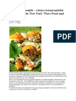 "Falafel Si Tabouleh – Reteta Restaurantului Raw Food Din New York ""Pure Food and Wine"""
