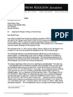 FFRF Letter to Sheriff Thorp