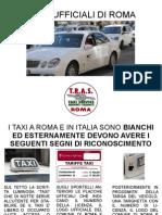 Taxi Ufficiali Di Roma Italiano