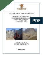 d66 DIA Plan de Exploraciones y Prospecciones DET 2007 2010