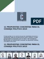 11 Propuestas2015