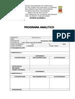 Formato Programa Analitico