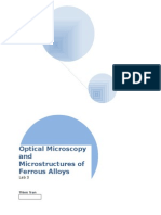Optical Microscopy and Microstructures of Ferrous Alloys