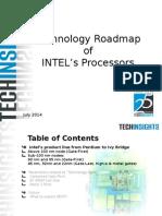 TechInsights Technology Roadmap INTEL Processors 2014