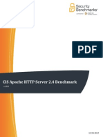 CIS Apache HTTP Server 2.4 Benchmark v1.0.0