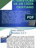 Características de Un Líder Cristiano