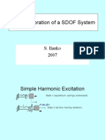 Forced Vibration of a Sdof System