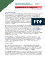 Métodos Estadísticos de Clasificación