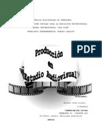 La Producción en Estudio Audiovisual